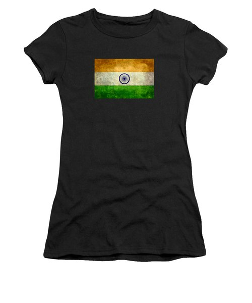 Flag Of India Retro Vintage Version Women's T-Shirt (Athletic Fit)