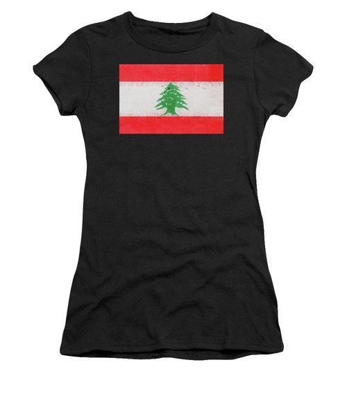 Flag Of Lebanon Grunge Women's T-Shirt