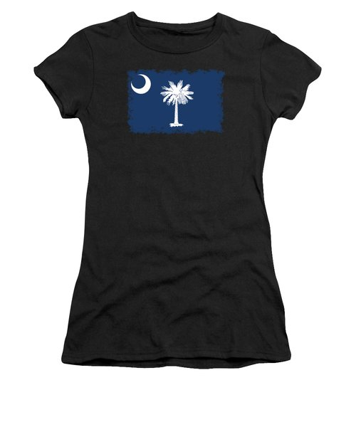 Flag Of South Carolina Authentic Version Women's T-Shirt (Athletic Fit)