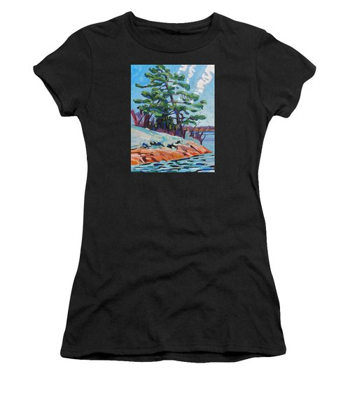 Flags And Contrails Women's T-Shirt