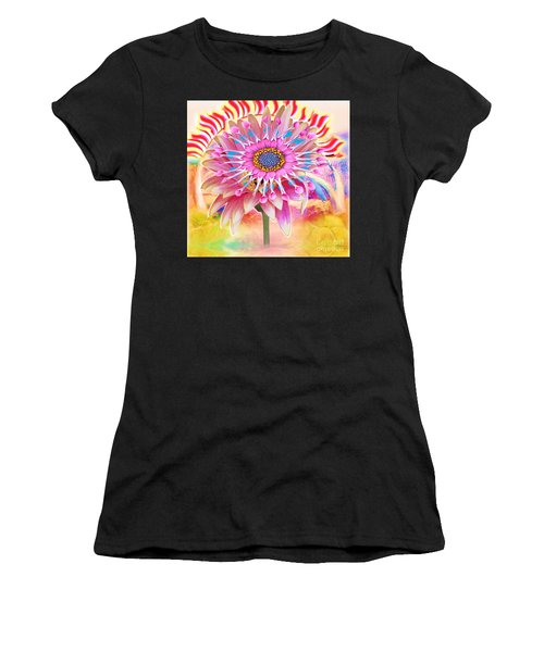 Flaming Sunrise Women's T-Shirt (Athletic Fit)