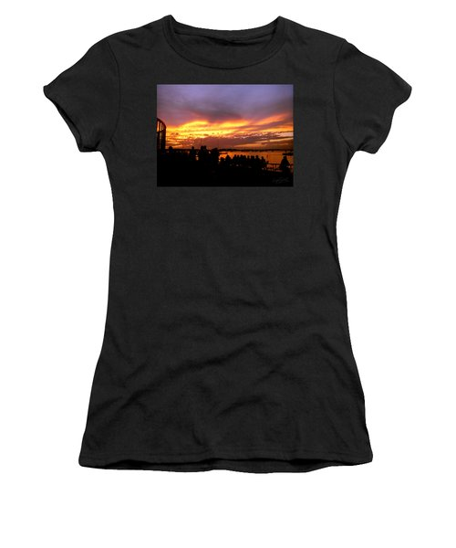 Flaming Sunset Women's T-Shirt (Athletic Fit)