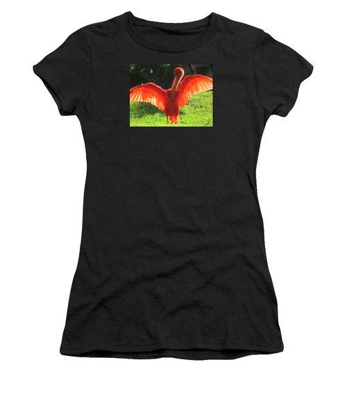 Flamingo Backlit Women's T-Shirt (Athletic Fit)