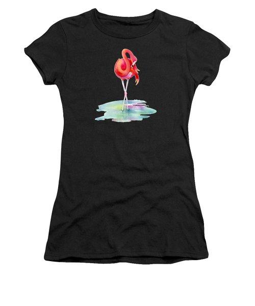 Flamingo Primp Women's T-Shirt (Athletic Fit)