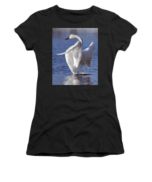 Flapping Swan Women's T-Shirt (Athletic Fit)