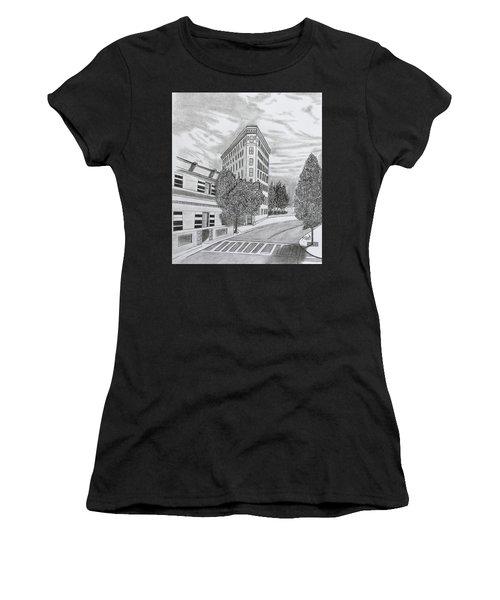 Flatiron In Asheville  Women's T-Shirt (Athletic Fit)