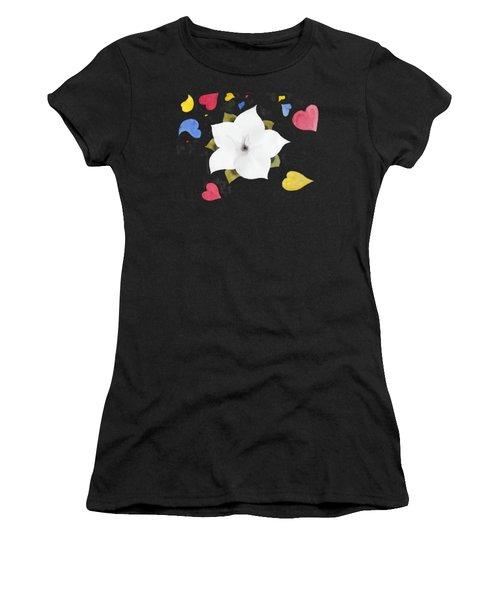 Fleur Et Coeurs Women's T-Shirt (Athletic Fit)