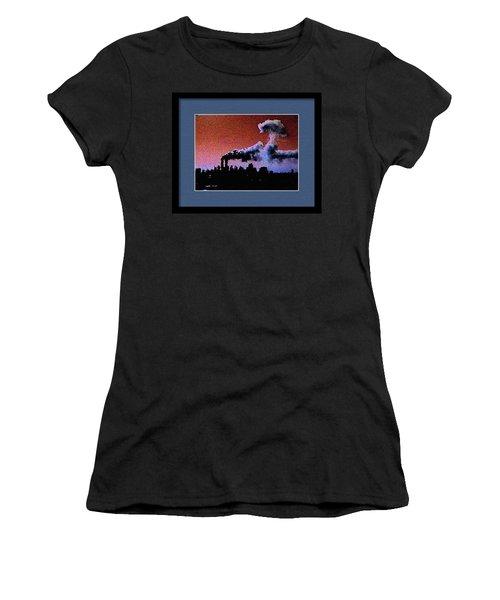 Flight 175 Mushroom Cloud Framed Example Women's T-Shirt (Athletic Fit)