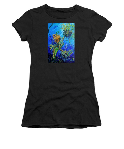 Floating Blond Mermaid Women's T-Shirt (Athletic Fit)