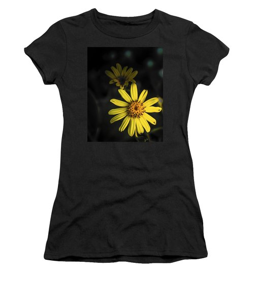 Flora In Yellow Women's T-Shirt (Athletic Fit)