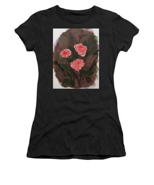 Floral Art Women's T-Shirt (Athletic Fit)
