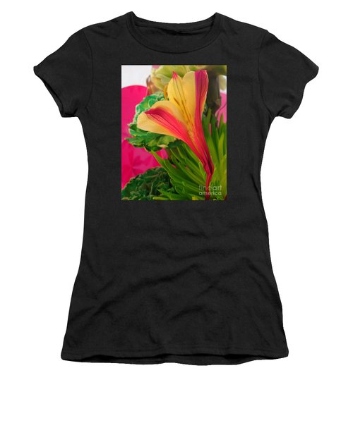 Floral Fusion Women's T-Shirt (Athletic Fit)