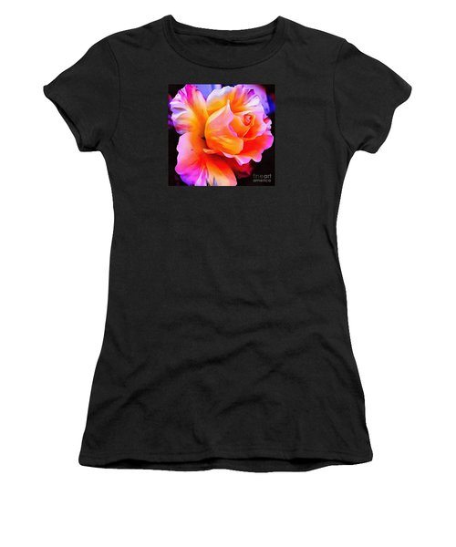 Floral Interior Design Thick Paint Women's T-Shirt (Athletic Fit)