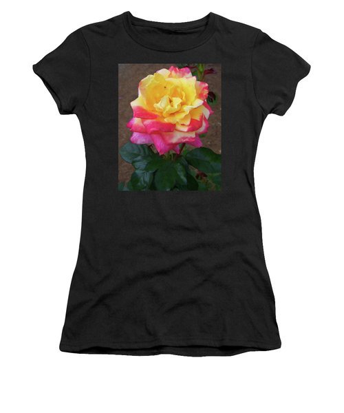 Women's T-Shirt (Athletic Fit) featuring the painting Floral Print 104 by Chris Flees