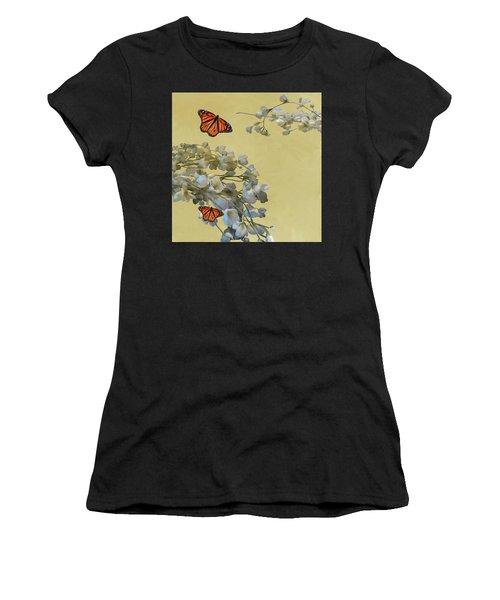 Floral05 Women's T-Shirt (Athletic Fit)