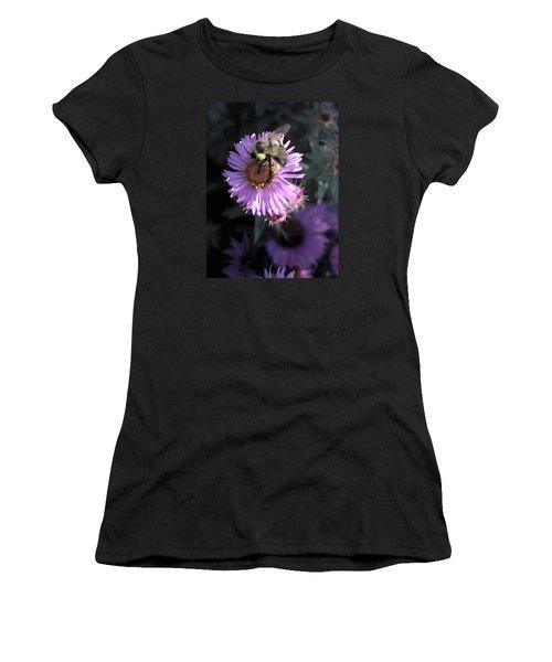 Flower And Bee Women's T-Shirt