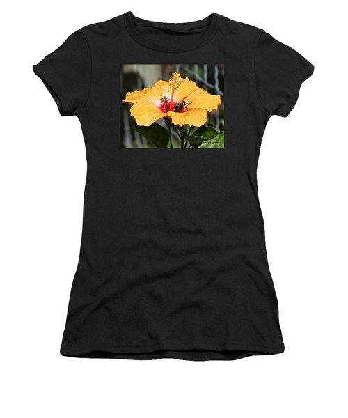 Flower Bee Women's T-Shirt (Athletic Fit)