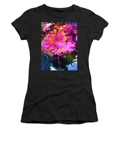 Flower Lolly Pink Yellow Women's T-Shirt (Athletic Fit)