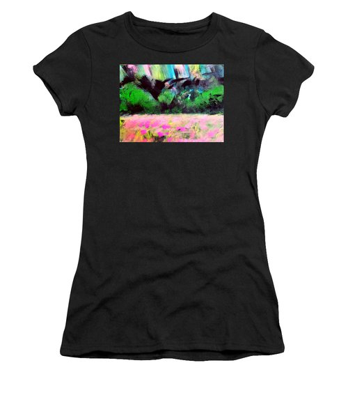 Flower Meadow Women's T-Shirt (Athletic Fit)