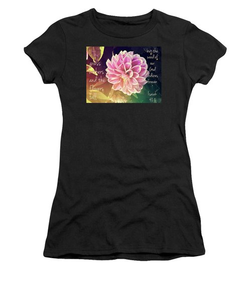 Flower With Scripture Women's T-Shirt