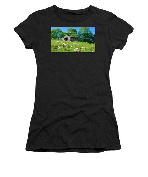 Flowering Hillside Meadow Women's T-Shirt