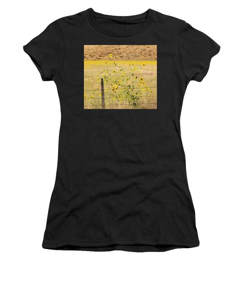 Flowers And Fence Women's T-Shirt (Athletic Fit)