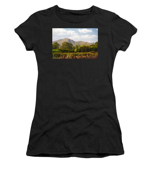 Flowers And Two Trees Women's T-Shirt