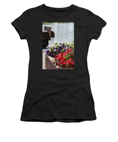 Flowers And Water Women's T-Shirt