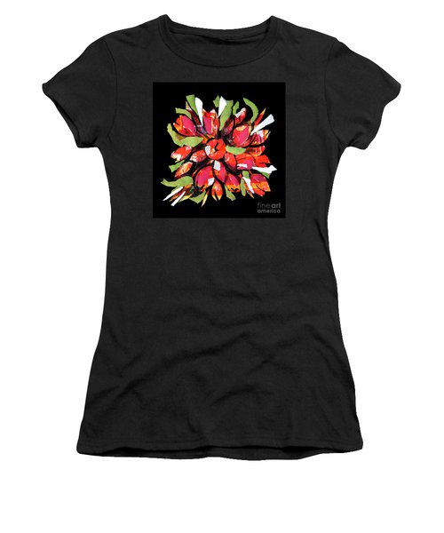 Flowers, Art Collage Women's T-Shirt