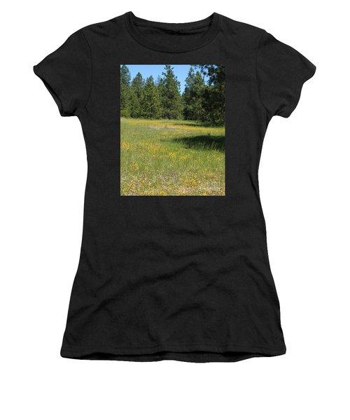 Flowers At Fish Hatchery Women's T-Shirt