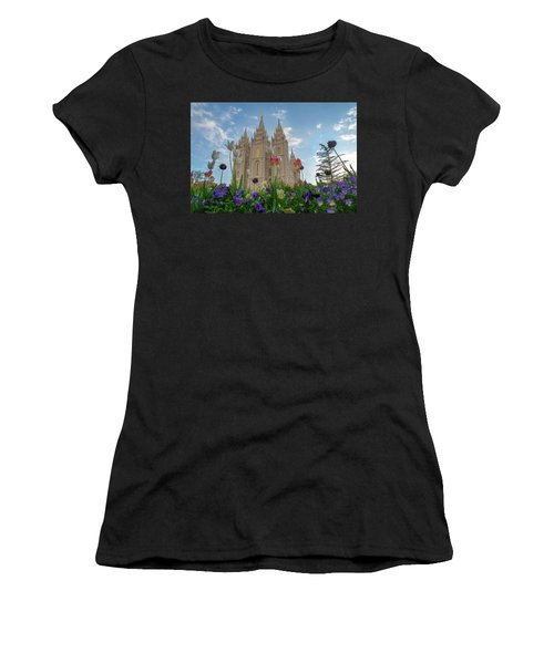 Flowers At Temple Square Women's T-Shirt
