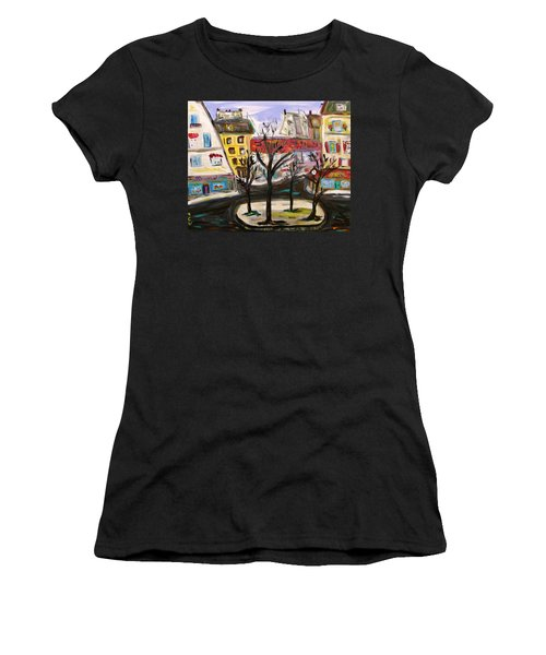 Flowers At The Corner Women's T-Shirt (Athletic Fit)