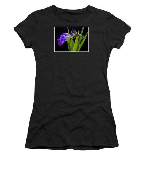 Flowers Backlite. Women's T-Shirt (Junior Cut) by Josephine Buschman