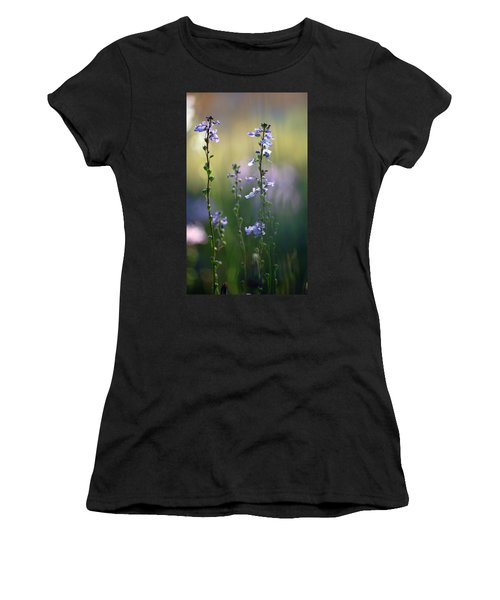 Flowers By The Pond Women's T-Shirt (Junior Cut) by Robert Meanor