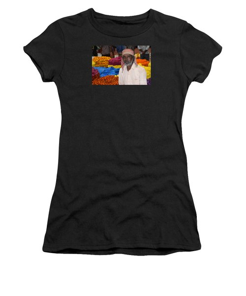 Flowers For Sale Women's T-Shirt (Junior Cut) by Mini Arora