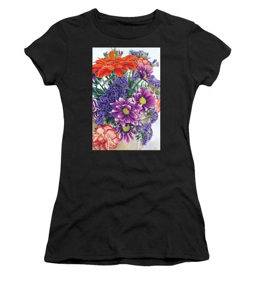 Flowers From Daughter Women's T-Shirt (Athletic Fit)