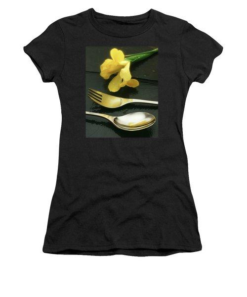 Flowers On Slate Women's T-Shirt