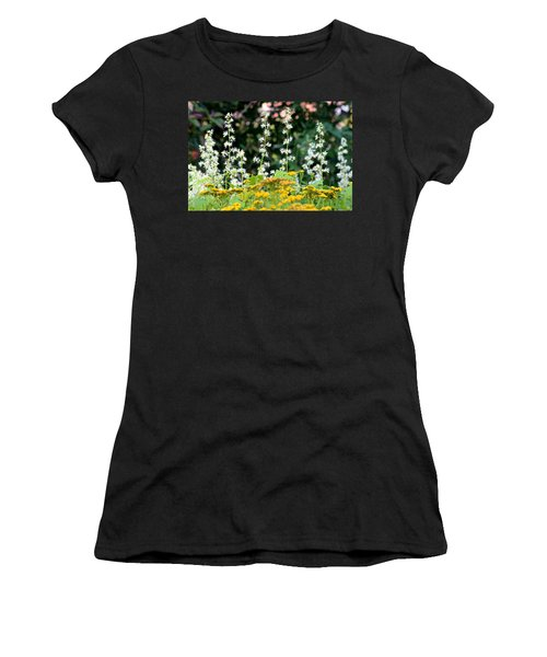 Flowers Sparkling Above The Tansies Women's T-Shirt