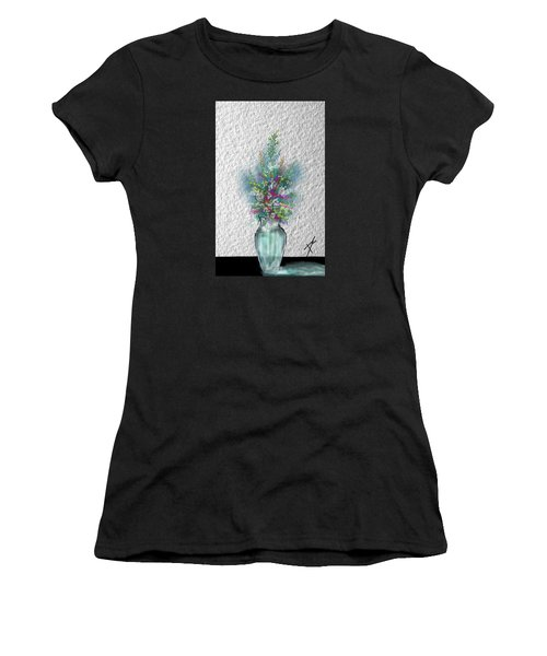 Women's T-Shirt featuring the digital art Flowers Study Two by Darren Cannell