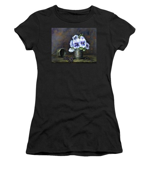 Flowers,pansies Still Life Women's T-Shirt (Athletic Fit)