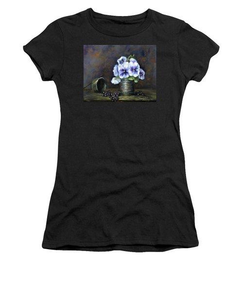 Flowers,pansies Still Life Women's T-Shirt