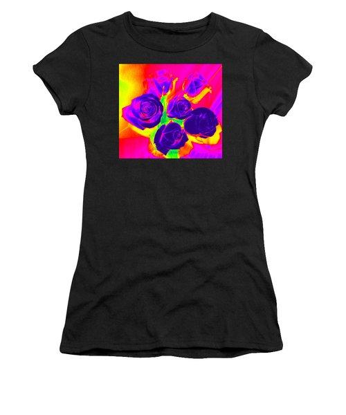 Fluorescent Roses Women's T-Shirt