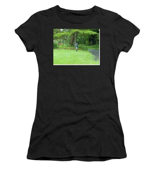 Fly Fishing On Trout Run Creek Women's T-Shirt
