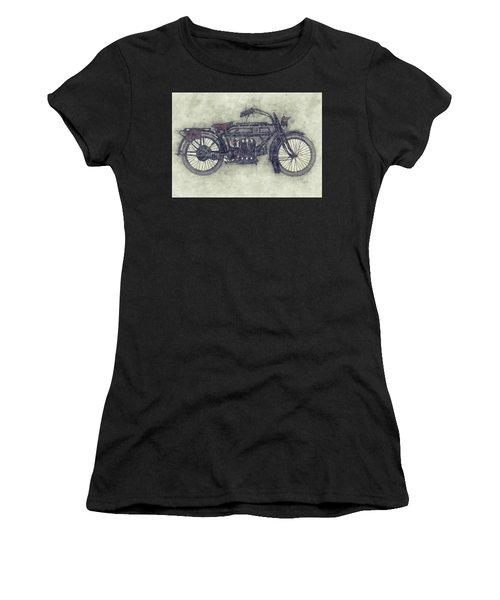 Fn Four 1 - Fabrique Nationale - 1905 - Motorcycle Poster - Automotive Art Women's T-Shirt