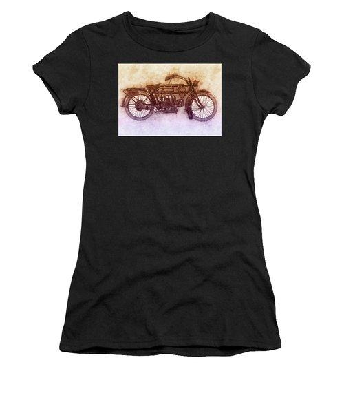 Fn Four 2 - Fabrique Nationale - 1905 - Motorcycle Poster - Automotive Art Women's T-Shirt