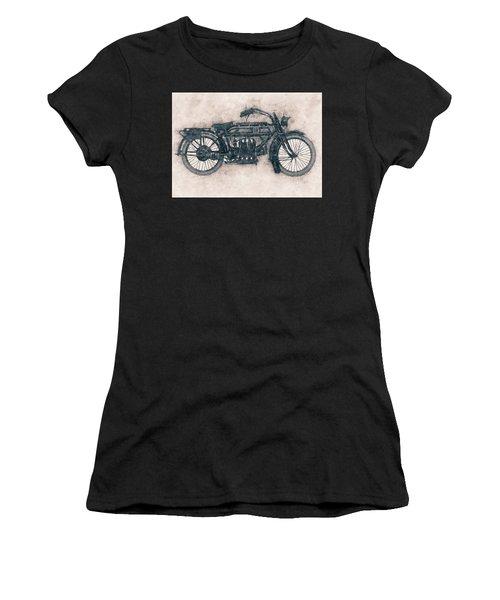Fn Four - Fabrique Nationale - 1905 - Motorcycle Poster - Automotive Art Women's T-Shirt