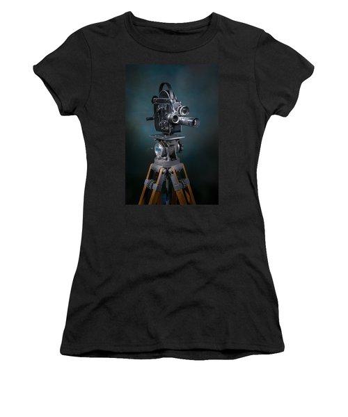 Focus In Blue Women's T-Shirt