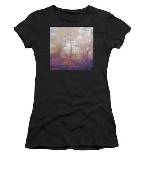 Fog In Autumn Mountain Woods Women's T-Shirt (Athletic Fit)
