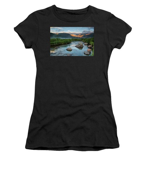Fog Rolls In On Moraine Park And The Big Thompson River In Rocky Women's T-Shirt