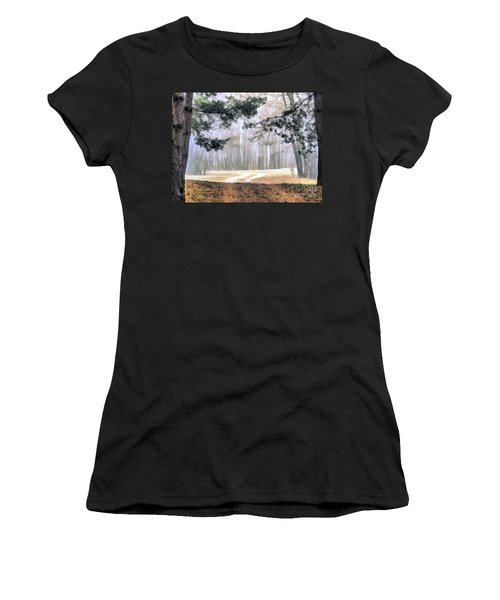 Foggy Autumn Landscape Women's T-Shirt